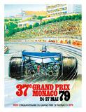 37th Grand Prix Monaco 1979 - Formula One Auto Racing Giclée-tryk af Pacifica Island Art