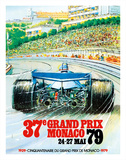 37th Grand Prix Monaco 1979 - Formula One Auto Racing Giclée-tryk af Pacifica Island Art