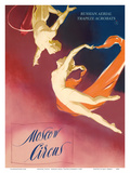 Moscow Circus - Russian Aerial Trapeze Acrobats Art by  Pacifica Island Art