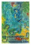 Die Zauberflöte (The Magic Flute)- Mozart- Metropolitan Opera Giclée-tryk af Marc Chagall