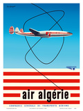 "Air Algérie - Lockheed L-1049 Super Constellation ""Connie"" Kunst af Guy Georget"