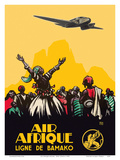 Air Afrique Airline - West Africa - Bamako Airlines (Ligne de Bamako) Posters af  Pacifica Island Art