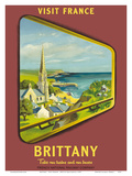 Brittany - Visit France - SNCF (French National Railway Company) Print by Jean Garcia