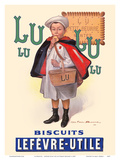 Lu Biscuits - The Little Student (Le Petit Ecolier) - Lefèvre-Utile (LU) Prints by Fermin Bouisset