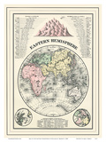 Map of the Eastern Hemisphere Posters by William M. Bradley