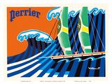 Perrier - The Sailboat - Hokusai The Great Wave Posters af Bernard Villemot