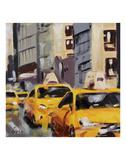 New York Taxi 6 Art by Robert Seguin