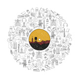 Brooklyn Industries - Icon Record - Giclee Baskı