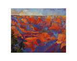 Grand Sunset (center) Poster by Erin Hanson