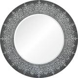 Priya Silver Leaf Mirror Espejo de pared