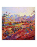 Ocotillo Triptych (center) Posters by Erin Hanson