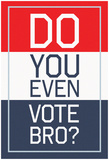 Do You Even Vote, Bro (Red, White & Blue) Posters