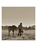 There Will Be Peace In The Valley (sepia) Print by Barry Hart