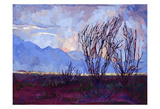 Ocotillo on Blue (center) Posters by Erin Hanson