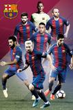 FC Barcelona- Players 16/17 Plakaty