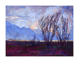 Ocotillo on Blue (center) Prints by Erin Hanson