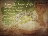 John 6:35 I am the Bread of Life (Grapes) Print by  Inspire Me