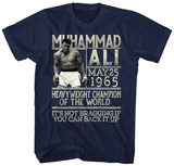 Muhammad Ali- Back Up The Claim T-shirts