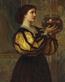 The Goldfish Bowl Giclee Print by Charles Edward Perugini