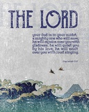 Zephaniah 3:17 The Lord Your God ( Waves) Print by  Inspire Me