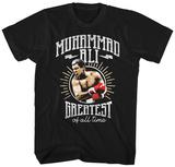 Muhammad Ali- Greatest Of All Badge T-Shirts