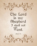 Psalm 23 The Lord is My Shepherd - Brown Prints by  Inspire Me
