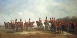 A Review of the 16th (The Queen's) Light Dragoons, 1851 Lámina giclée por John Ferneley