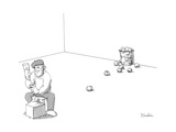 Sculptor throws away attempts like wads of paper. - New Yorker Cartoon Premium Giclee Print by Charlie Hankin