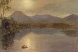 Mounts Katahdin and Turner from Lake Katahdin, Maine Giclee Print by Frederic Edwin Church
