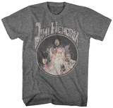 Jimi Hendrix- The Experince Distressed Camisetas