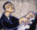 Piano Giclee Print by Marsha Hammel
