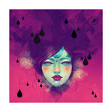 Black Rain Prints by Felicia Ann