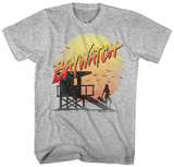 Baywatch- Beach Station Distressed T-shirts