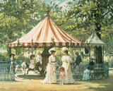 Summer Carousel Giclee Print by Alan Maley