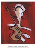 Woman with Guitar Plakat af Christian Pavlakis