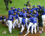 The Toronto Blue Jays celebrate winning the 2016 American League Wild Card Game Photo