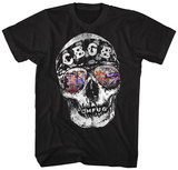 CBGB-Distressed Skull & Shades T-shirts