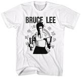 Bruce Lee- Nunchucks Ready T-Shirts