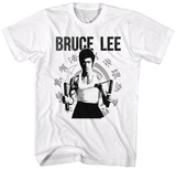 Bruce Lee- Nunchucks Ready T-Shirts