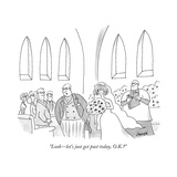 """Look—let's just get past today, O.K.?"" - New Yorker Cartoon Premium Giclee Print by Jack Ziegler"
