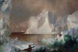The Icebergs Gicléedruk van Frederic Edwin Church