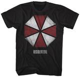 Resident Evil- Distressed Umbrella Logo T-Shirts