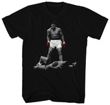 Muhammad Ali- Red Gloved Knockdown T-skjorte