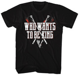 Vikings- Who Wants To Be The King Tshirt