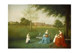 Members of the Maynard Family in the Park at Waltons, C.1755-62 Giclee Print by Arthur Devis
