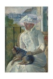 Young Girl at a Window, 1883-84 Giclee Print by Mary Cassatt