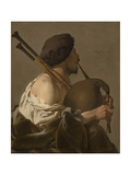 Bagpipe Player, 1624 Giclee Print by Hendrick Ter Brugghen