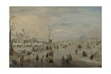 Enjoying the Ice, C. 1615-20 Giclee Print by Hendrick Avercamp