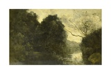Pond in the Woods, 1840-75 Giclee Print by Camille Corot