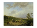 Landscape with an Approaching Rainstorm, 1825-29 Giclee Print by Barend Cornelis Koekkoek